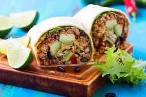 Healthy Brown Rice and Beef Burritos