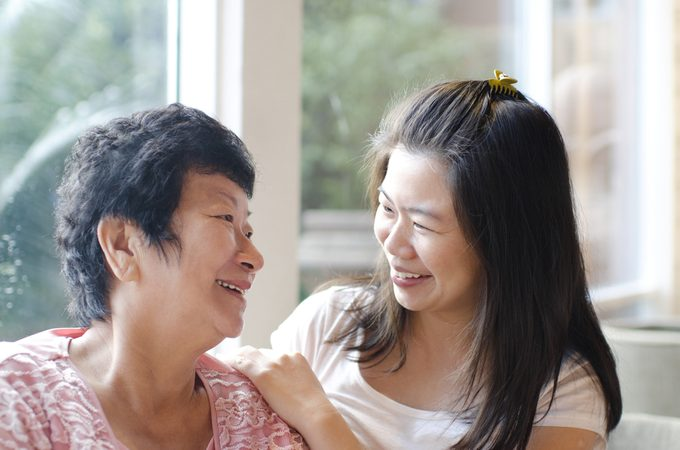aging parents_ woman and mother