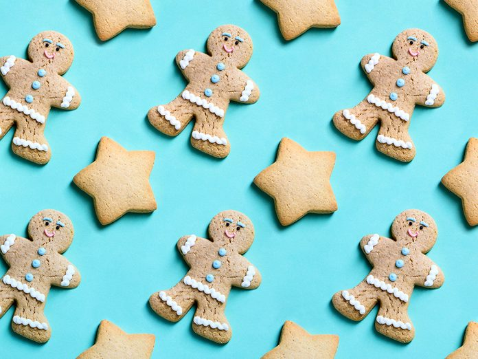 healthier baking, rows of gingerbreads