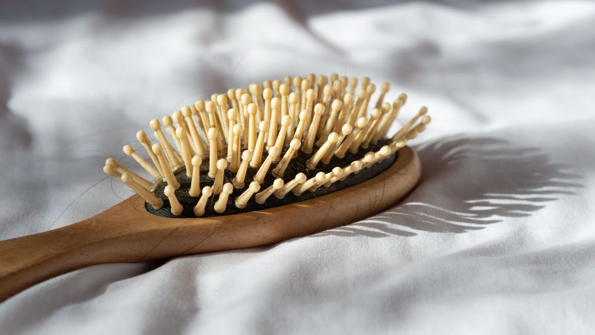 skin says about your health | hair brush