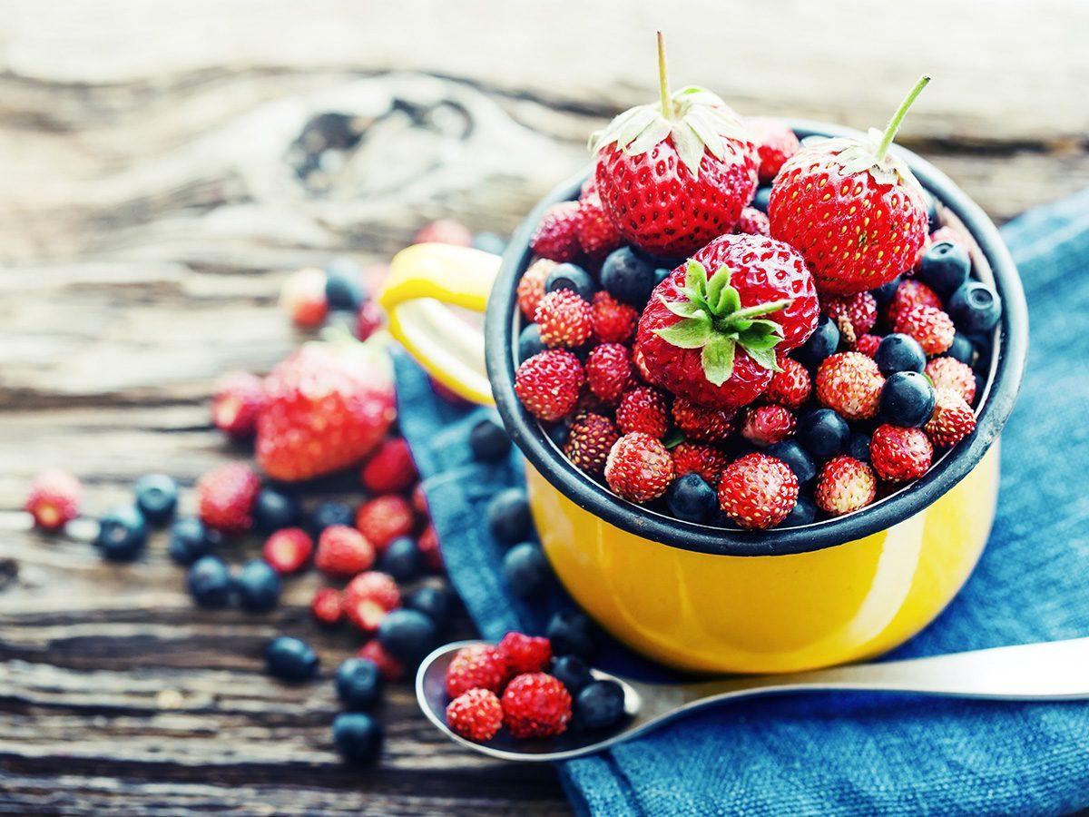 Antioxidants, Bowl of assorted berries