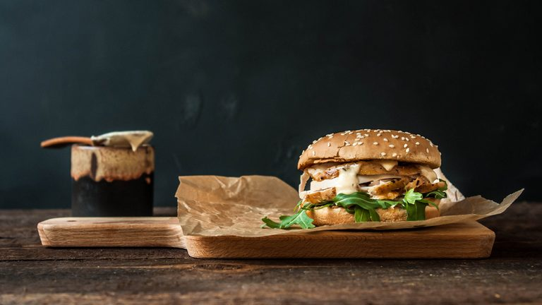 herbed chicken burger