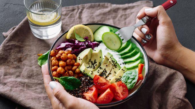 mindful eating buddha bowl salad
