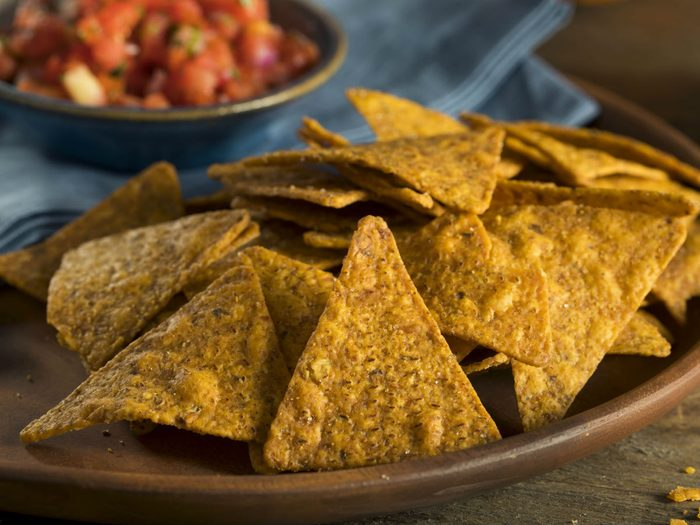 healthy party snacks spiced tortilla chips
