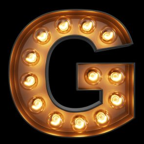 your g spot, the letter g in lights