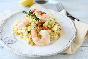 Shrimp & Feta Couscous
