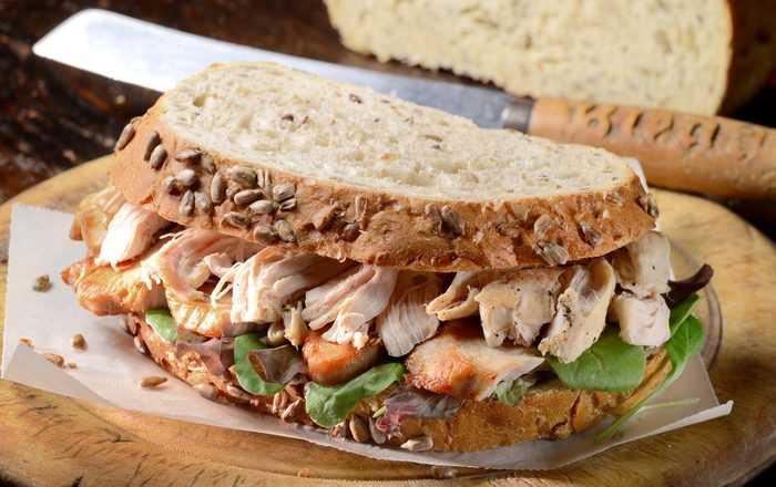 Turkey leftovers, turkey sandwich