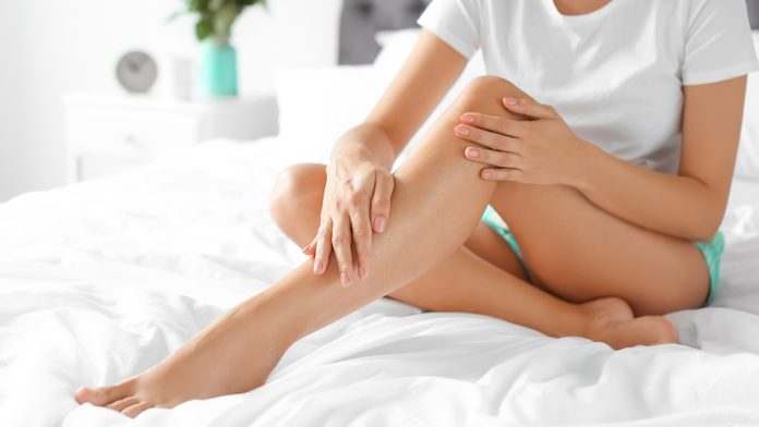 after waxing care woman legs