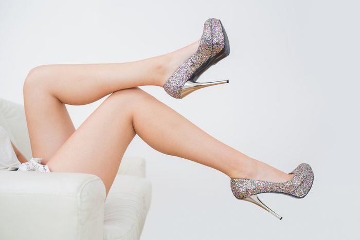 women hurt their health_woman with heels