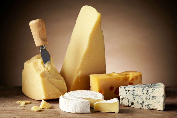 Lactose intolerant, a variety of types of cheese
