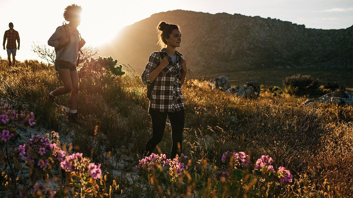Benefits of Nature, woman hiking