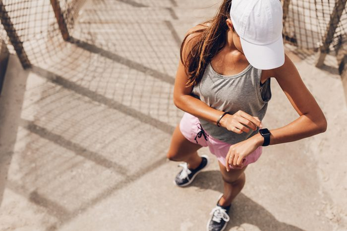 woman in outdoor running gear