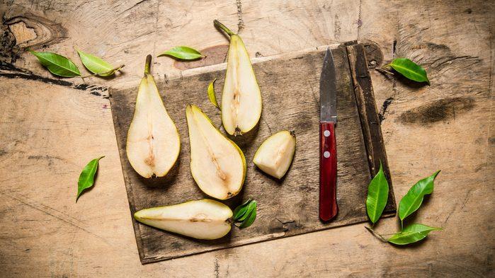 flat tummy foods pears