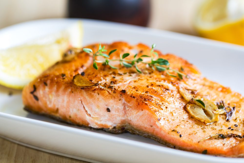 burn belly fat_ salmon
