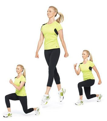 5. Plyo Lunges: 2 minutes