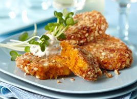 Almond Crusted Pumpkin Fritters