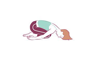 Anti-aging yoga Child's Pose