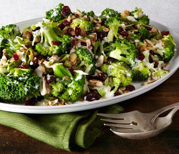 Healthy Broccoli, Cranberry & Almond Salad