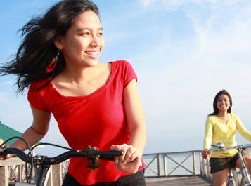 women on bikes