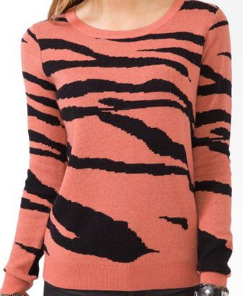 Forever 21 Tiger Stripe Sweater