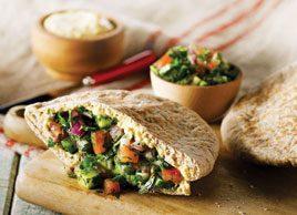 Hummus & Tabouleh Sandwiches