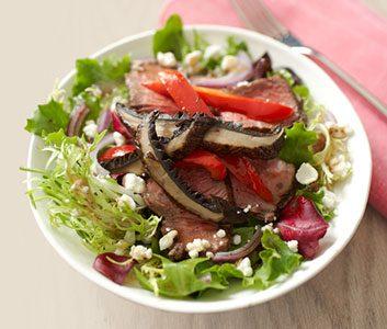 Sizzling Sirloin and Portobello Salad