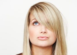 Can long bangs harm your vision?