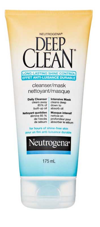 Neutrogena Deep Clean Long-Lasting Shine Control Cleanser/Mask