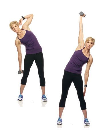 4. Oblique power reach for flat abs