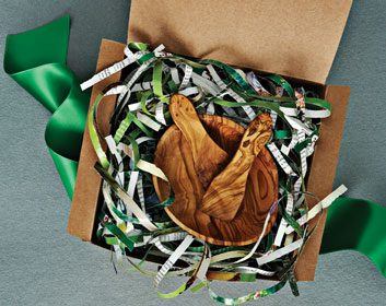 The recycled gift wrap