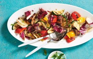 Grilled Chopped Veggie Salad