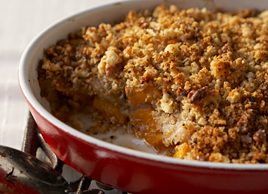 Savoury Squash and Pear Crumble