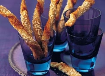 sesame cheese twists