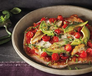 Thin-Crust Tricolore Pizza