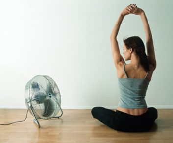ac air condition fan woman cooling cooldown hot