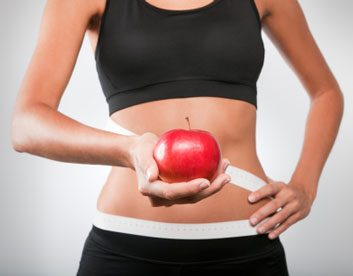 belly stomach apple
