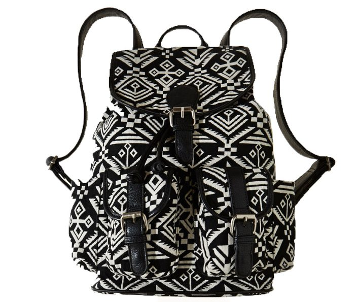 Woven cotton backpack