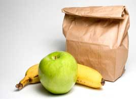 school bag lunch