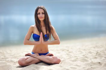 beach yoga meditation