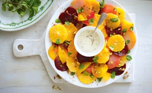 A Colourful Beet Salad with Yogurt Poppy Seed Dressing