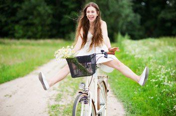 biking outdoors