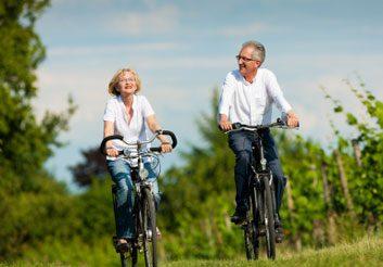 fitness couple biking
