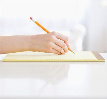 write a bucket list