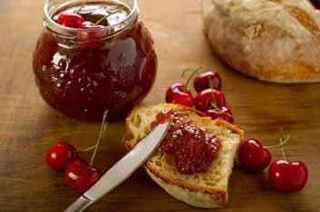 Brioche Peanut Butter and Cherry Jam Sandwiches