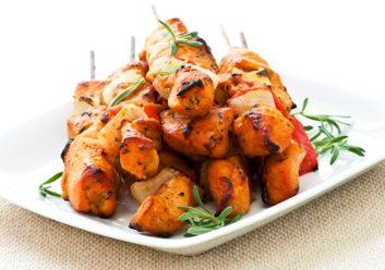 bbq chicken kebabs
