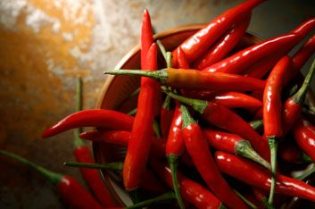 Chilli and cayenne pepper