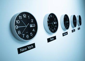 clocks time zones