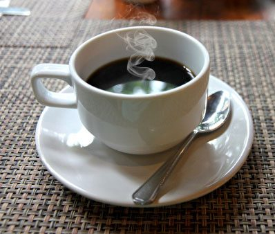 Drink a cup of coffee