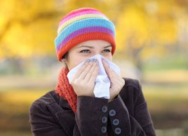 woman with cold