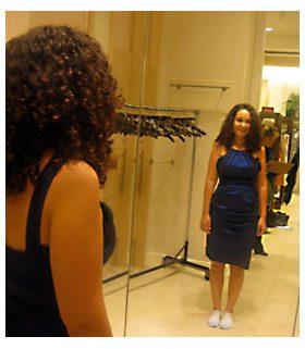cora blue dress